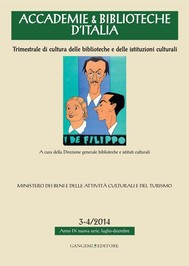Accademie & Biblioteche d'Italia 3-4/2014 - copertina