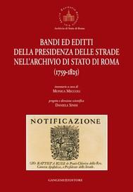 Bandi ed editti della Presidenza delle strade nell'Archivio di Stato di Roma - copertina