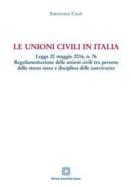 Le unioni civili in Italia - copertina