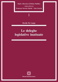 Le deleghe legislative inattuate - copertina