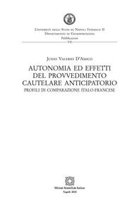 Autonomia ed effetti del provvedimento cautelare anticipatorio - Librerie.coop
