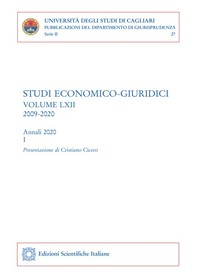 Studi economico-giuridici - volume LXII, 2009-2020 - Librerie.coop