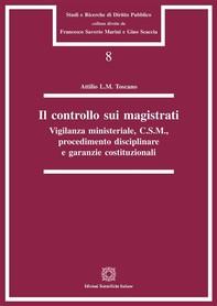Il controllo sui magistrati - Librerie.coop