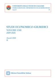 Studi economico-giuridici - volume LXII, 2009-2020 - Tomo II - Librerie.coop