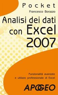 Analisi dei dati con Excel 2007 - copertina