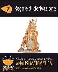Analisi matematica I.7 Regole di derivazione (PDF - Spicchi) - copertina