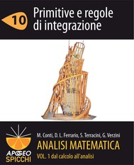 Analisi matematica I.10 Primitive e regole di integrazione (PDF - Spicchi) - copertina