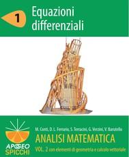Analisi matematica  II.1 Equazioni differenziali (PDF - Spicchi) - copertina