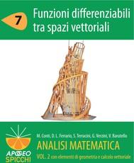 Analisi matematica  II.7 Funzioni differenziabili tra spazi vettoriali (PDF - Spicchi) - copertina