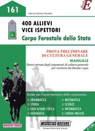 400 Allievi Vice Ispettori Corpo Forestale dello Stato - copertina