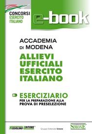 Accademia di Modena - Allievi Ufficiali Esercito Italiano - Eserciziario - copertina