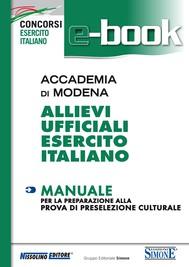 Accademia di Modena - Allievi Ufficiali Esercito Italiano - Manuale - copertina