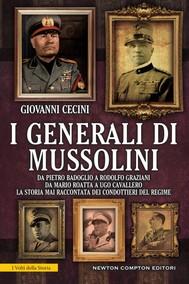 I generali di Mussolini - copertina