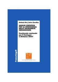 Analisi statistica per la conoscenza della solidarietà organizzata. Censimento nazionale per il Sostegno a Distanza 2007 - copertina