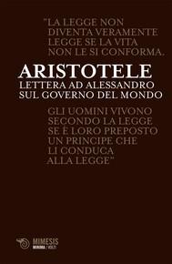 Lettera ad Alessandro sul governo del mondo - copertina