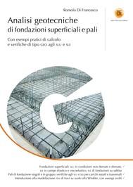 Analisi geotecniche di fondazioni superficiali e pali - copertina