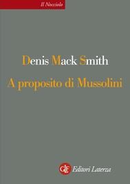 A proposito di Mussolini - copertina