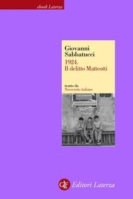 1924. Il delitto Matteotti - copertina