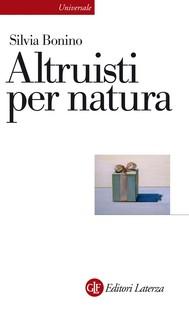 Altruisti per natura - copertina