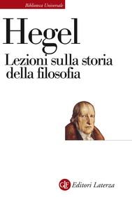Lezioni sulla storia della filosofia - copertina
