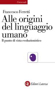 Alle origini del linguaggio umano - copertina