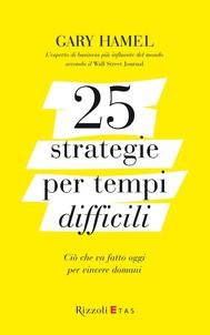 25 strategie per tempi difficili - copertina