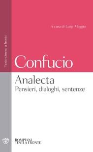 Analecta - Pensieri, dialoghi, sentenze - copertina