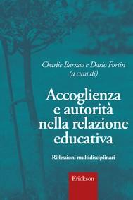 Accoglienza e autorità nella relazione educativa - copertina