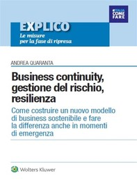 Business continuity, gestione del rischio, resilienza - Librerie.coop