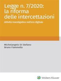 La legge 7/2020: la riforma delle intercettazioni - Librerie.coop