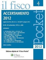 Accertamento 2012 - copertina