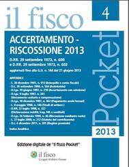 Accertamento - Riscossione 2013 - copertina