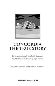 Concordia. The true story - copertina