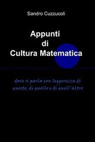 Appunti di cultura matematica - copertina