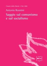 Saggio sul comunismo e sul socialismo - Librerie.coop
