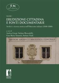 Erudizione cittadina e fonti documentarie - copertina