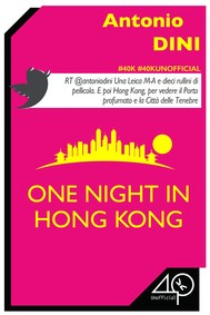 One Night in Hong Kong - copertina