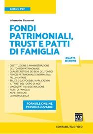 Fondi patrimoniali, trust e patti di famiglia - copertina