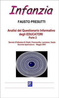 Analisi del Questionario Informativo degli EDUCATORI Parte 2 - copertina