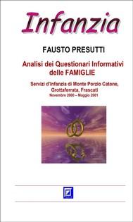 Analisi dei Questionari Informativi delle FAMIGLIE  - copertina