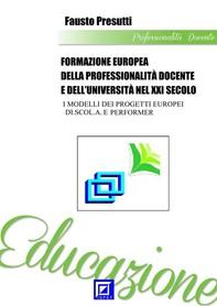 Formazione Europea della Professionalità Docente e dell'Università nel XXI Secolo - Librerie.coop