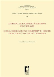 Assistenza e solidarietà in Europa Secc. XIII-XVIII / Social assistance and solidarity in Europe from the 13th to the 18th Centuries - copertina