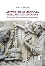 Appunti di metrologia mercantile genovese: un contributo della documentazione aziendale Datini - copertina