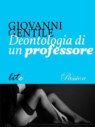 Deontologia di un professore - copertina