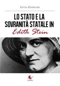 Lo Stato  e la sovranità statale  in Edith Stein - Librerie.coop