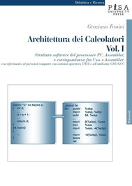 Architettura dei Calcolatori - Vol. I - copertina