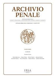 Archivio Penale - copertina