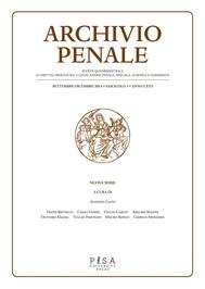 Archivio Penale 3/2014 - copertina