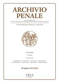 Archivio Penale 2/2015 - copertina