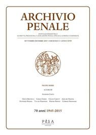 Archivio Penale 3/2015 - copertina